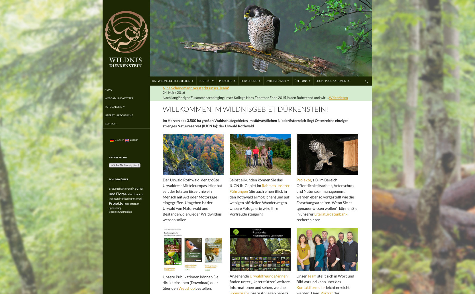 www.wildnisgebiet.at - Website des Wildnisgebiets Dürrrenstein